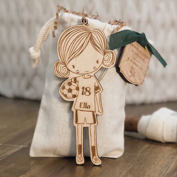 Book Worm Girl Christmas Ornament (CUSTOMIZABLE)