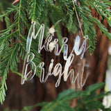 MERRY + BRIGHT Acrylic Christmas Ornament
