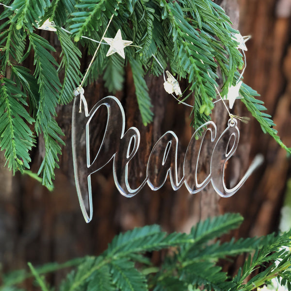 PEACE Acrylic Christmas Ornament