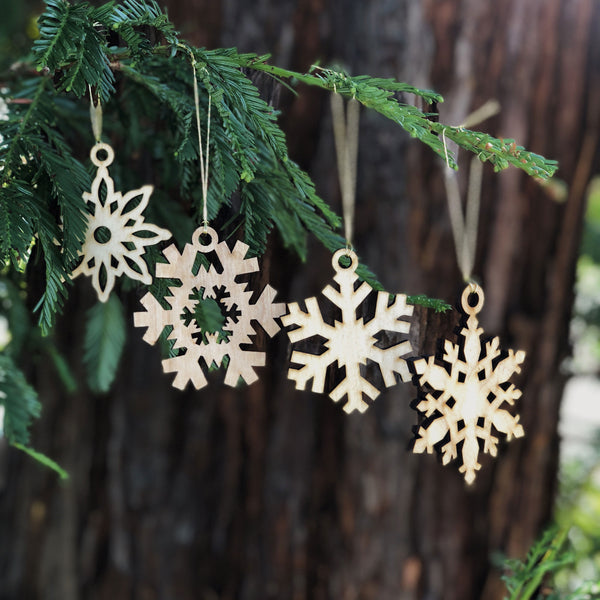Tahoe Snowflake Ornament Collection (set of four)