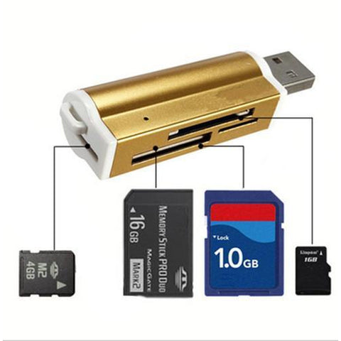 Aluminum All in one USB 2.0 Card Reader-Phone Accessories-Docs General Store