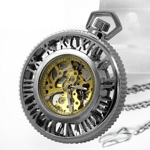 Steampunk Mechanical Pocket Watch-Watches-Docs General Store