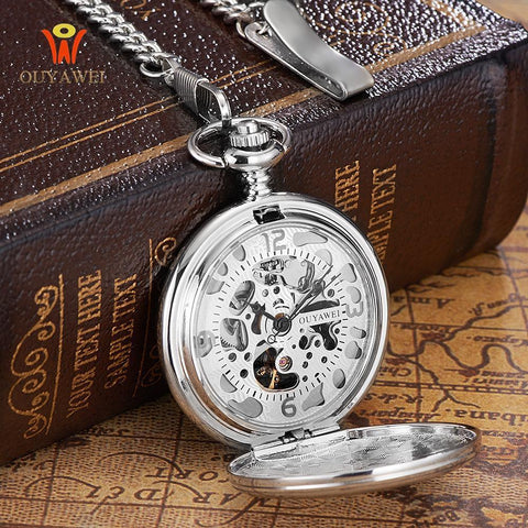 Steampunk Pocket Watch with Cover-Watches-Docs General Store