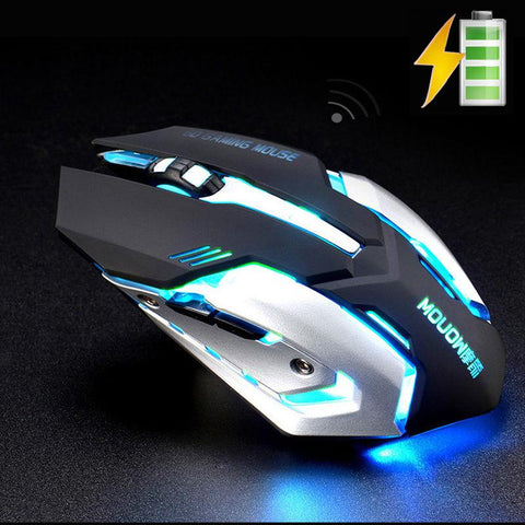 Wireless Rechargeable Silent Gaming Mouse-Gaming-Docs General Store