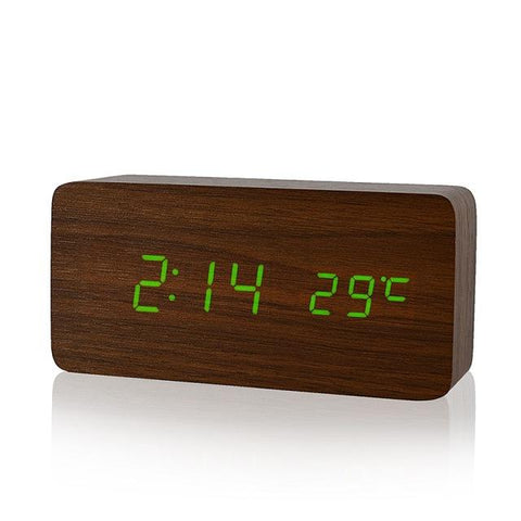 Wood LED Clock-Home and Garden-Docs General Store