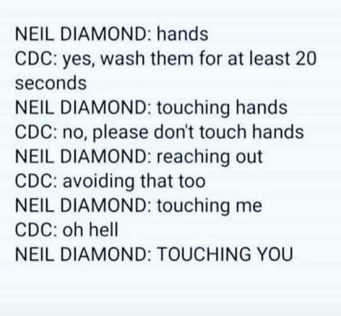 Neil Diamond sings Sweet Caroline to the CDC