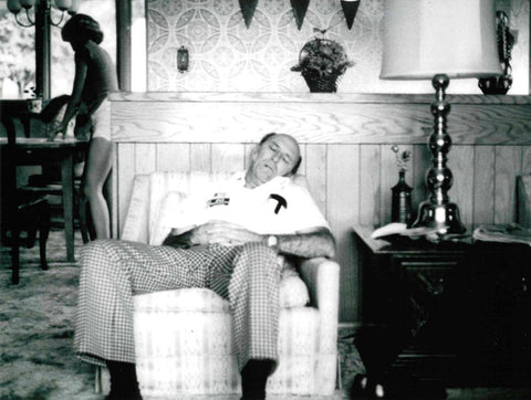 Gil Mathews, Founder of Zee Medical Service Twin Cities, at home in 1973