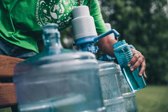 Keep a water bottle handy and refill during your day as needed to stay hydrated.
