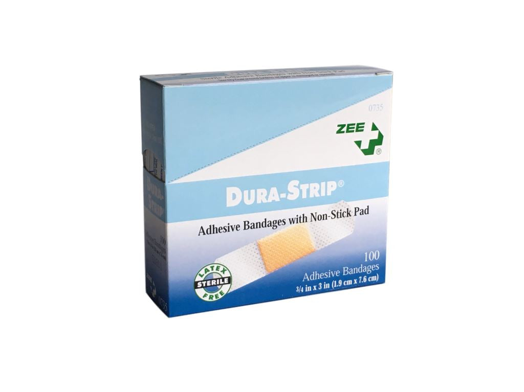Zee Medical Dura-Strip Adhesive Bandages with Non-Stick Pad