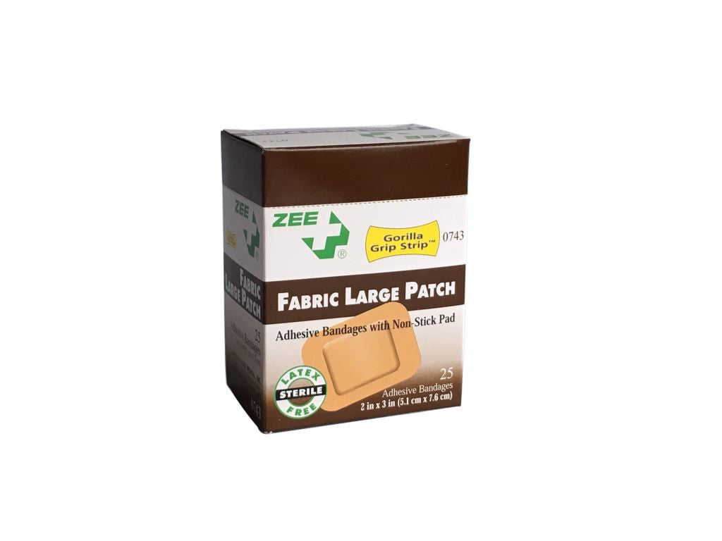 Zee Medical Large Patch Fabric Bandages