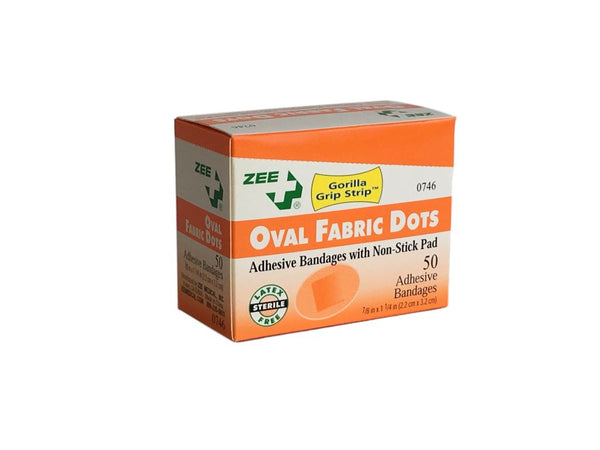 Zee Medical Oval Fabric Bandages