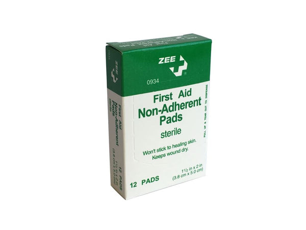 "Zee Medical Non-Adherent Telfa Pads (1.5"" x 2"")"