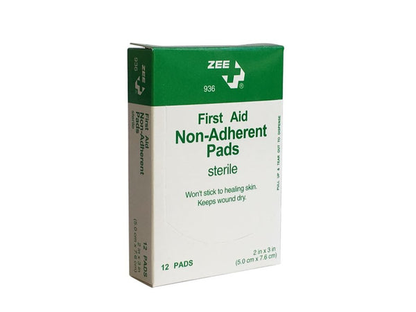 "Zee Medical Non-Adherent Telfa Pads (2"" x 3"")"