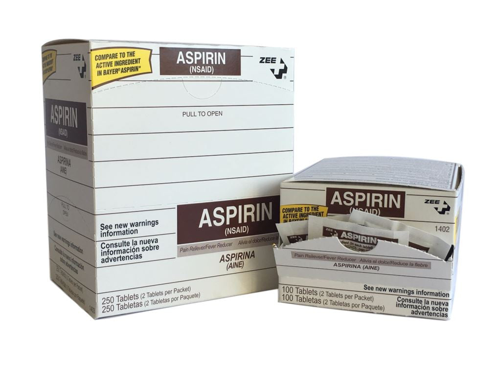 Zee Medical NSAID Aspirin 100 or 250 Quantity