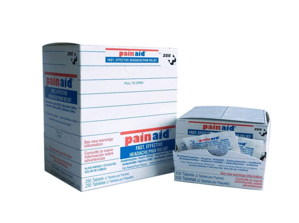 PainAid pain reliever 250 or 100 quantity