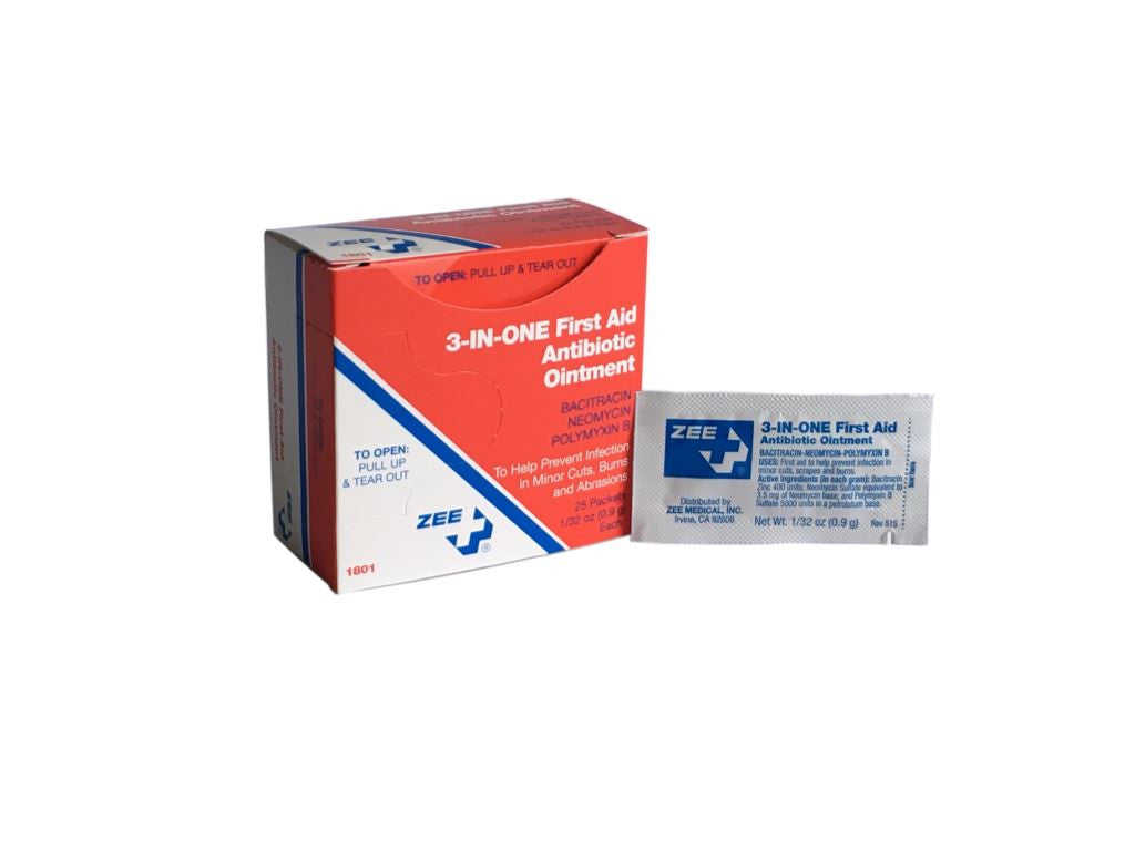 Zee Medical 3-in-1 First-Aid Antibiotic Ointment