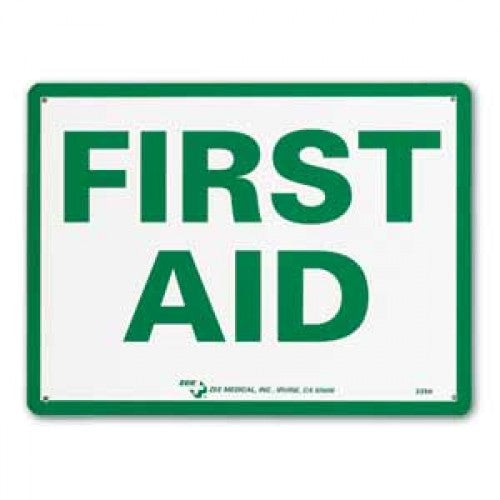 Zee Medical First Aid Sign