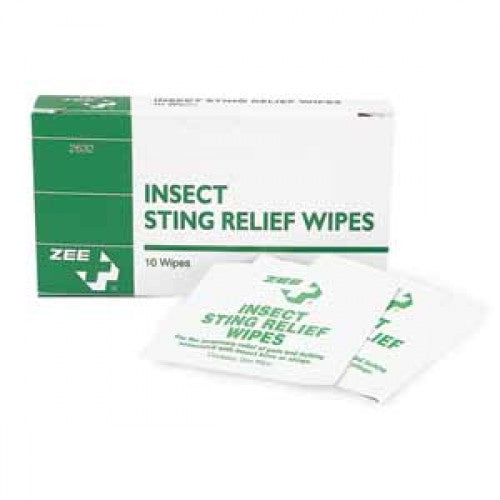 Zee Medical Insect Sting Relief Wipes
