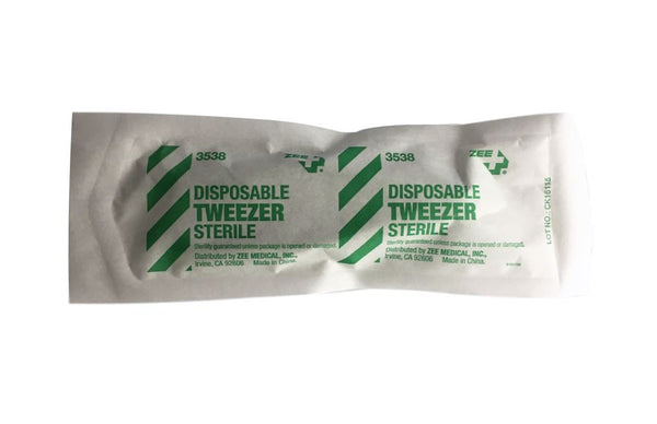 Zee Medical Sterile Disposable Tweezer