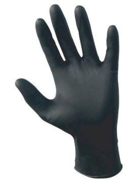 Black Textured Nitrile Examination Gloves
