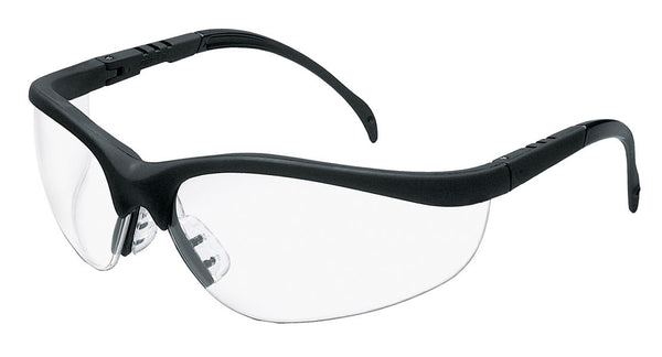 Klondike Clear Lens Safety Glasses with Matte Black Finish Frame from Zee Medical