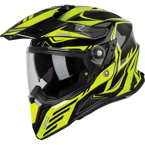 CASCO AIROH COMMANDER CARBON AMARILLO BRILLANTE