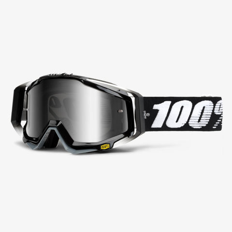 goggle 100% RACECRAFT ABYSS BLACK MIRROR LENS
