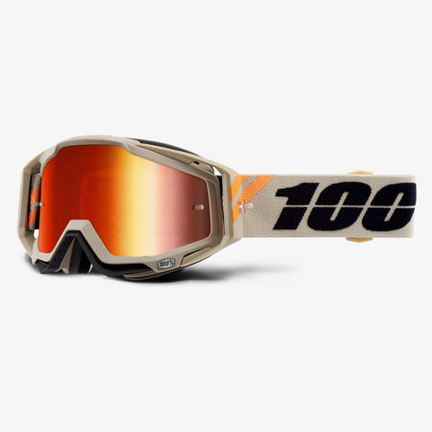 GOGGLE 100% RACECRAFT POLLET MIRROR RED LENS
