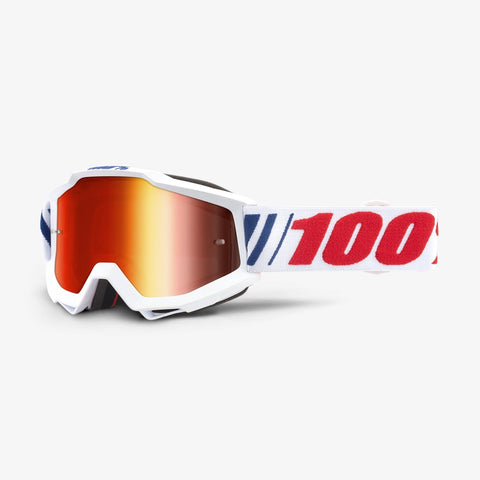 GOGGLE 100% ACCURI AF006 MIRROR RED LENS