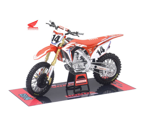 HRC FACTORY TEAM CRF450R 2017 (COLE SEELY) #14 ESCALA 1:12