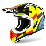 CASCO AIROH AVIATOR ACE TRICK MULTICOLOR BRILLANTE 2020