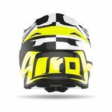 CASCO AIROH TWIST RACR 2.0 BLANCO/NEGRO BRILLANTE 2020