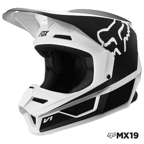 CASCO FOX V1 PRZM NEGRO/BLANCO 2019