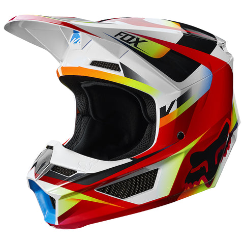 CASCO FOX  V1 MOTIF ROJO/BLANCO 2019