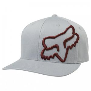GORRA FOX CLOUDED FLEXFIT GRIS/ROJO