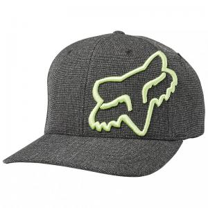 GORRA FOX CLOUDED FLEXFIT NEGRO/VERDE