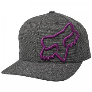 GORRA FOX CLOUDED FLEXFIT NEGRO/MORADO