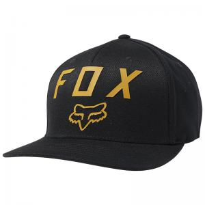 GORRA FOX NUMBER 2 FLEXFIT NEGRO/AMARILLO