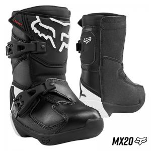 BOTA FOX COMP K NEGRO/BLANCO