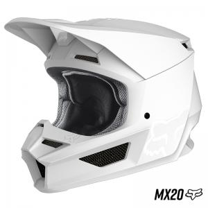 CASCO FOX V1 MATTE MX20 BLANCO