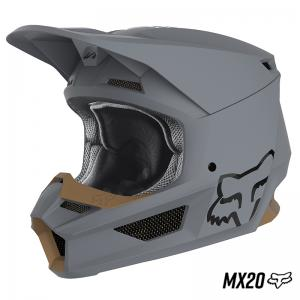 CASCO FOX MATTE MX20 GRIS