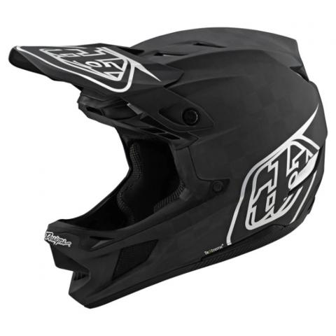 CASCO TROY LEE DESIGNS D4 CARBON STEALTH NEGRO / PLATA