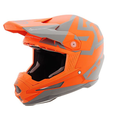 CASCO 6D ATR-1 SWITCH NARANJA/GRIS