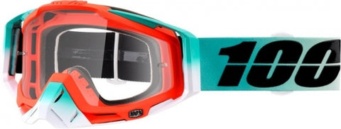 GOGGLE 100% RACECRAFT CUBICA CLEAR LENS