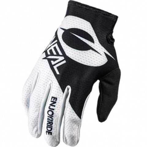 GUANTES ONEAL MATRIX GLOVE STACKED NEGRO/BLANCO