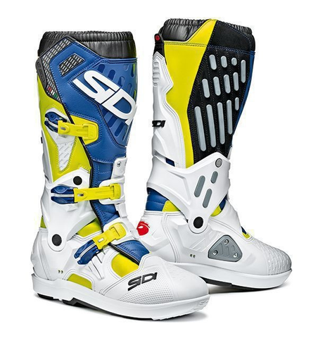 BOTAS SIDI ATOJO SRS YELLOW FUO/WHITE/BLUE