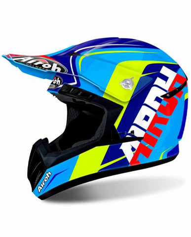 CASCO AIROH SWITCH SING AZUL
