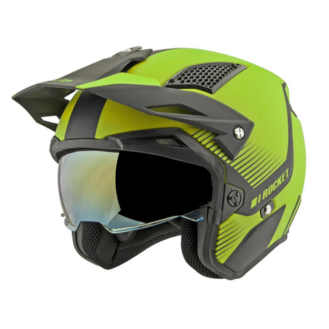 CASCO JOE ROCKET RKT 6 PHOENIX AMARILLO FLUO/NEGRO