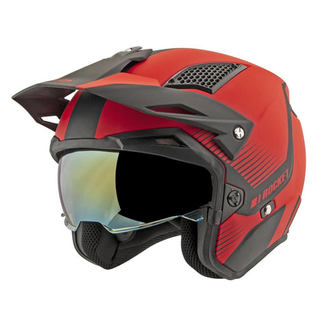 CASCO JOE ROCKET RKT 6 PHOENIX NEGRO/ROJO