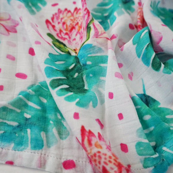 Swaddle With Aloha Queen Protea Swaddle Blanket - Sweet Sweet Honey